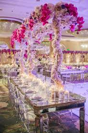 reception décor photos tall trellis like lavender centerpiece