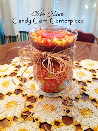 centerpieces with candy clover house candy corn centerpiece easy and inexpensive