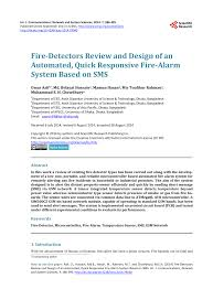 fire detectors review and design of an automated quick responsive