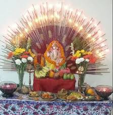 Home Temple Decoration Ideas Ganesh Chaturthi Decoration Ideas Decoration For Pooja
