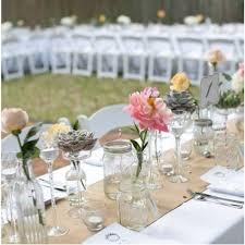 chemin de table mariage chemin de table en vrai toile de jute 26cm decoration mariage