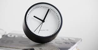 aurelia alarm clock matt black made com