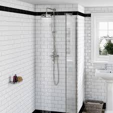 the bath co winchester rain can dual valve riser shower system