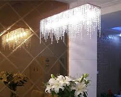 PM Modern Linear Rectangular Island Dining Room Crystal - Dining room crystal chandelier