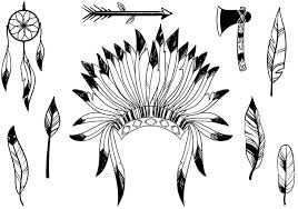 native american pattern vector black and white
