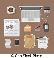 affaires de bureau bureau affaires calculatrice comptable bureau clipart