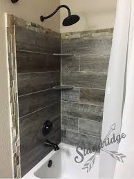 rustic bathroom barnwood ceramic tile house pinterest