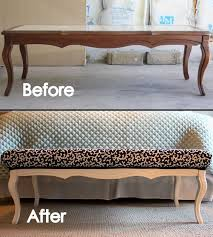 padded coffee table cover diy coffee table turned bench oooooohhhhh never thought of doing