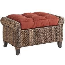 furniture allen roth blaney high back wicker chair wicker ottoman