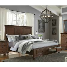 austin panel bed whiskey brown american home furniture store