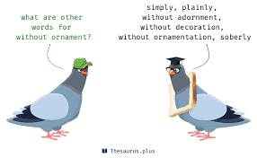 13 without ornament synonyms similar words for without ornament