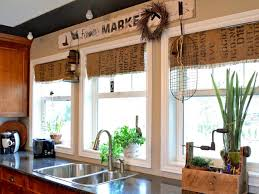 Kitchen Window Curtains Ideas by Window Treatment Ideas Coffee Sacks Valance And Hgtv