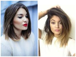 brunette long bob haircuts long bob ombre highlights tips freshman