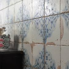 somertile 13x13 inch artesano azul decor ceramic floor and wall