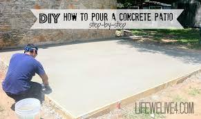 Patio Concrete Stain Ideas by Diy Concrete Patio Diy Pouring A Concrete Patio Https Www
