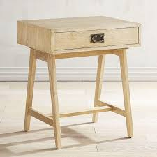 light wood end tables natural whitewash drawer accent table