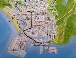 Gta World Map La Puerta Freeway Gta Wiki Fandom Powered By Wikia