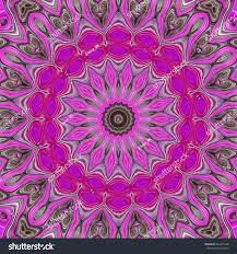 Modern Floral Wallpaper Modern Floral Pattern Raster Illustration Design Stock