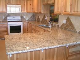 granite kitchen countertops with backsplash four wooden dining