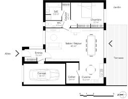 plan maison cuisine ouverte plan cuisine ouverte sur salon amazing plan cuisine ouverte sur
