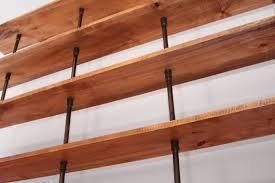 the hemingway wall mount bookcase reclaimed wood bookshelf