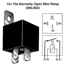 12v 70a normally open mini relay for vintage u0026 classic cars