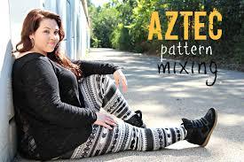 plus size ootd aztec pattern mixing sarah rae vargas