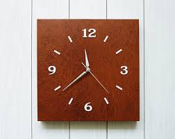 Leather Home Decor by Leather Wall Clock Etsy