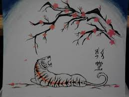 cherry blossom tiger by ironclawsandpaws on deviantart