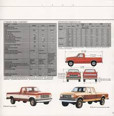 Ford F150 Truck Dimensions - 1988 recreation vehicles ford truck sales brochure ford f 150