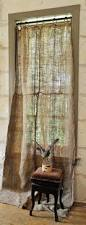 281 best curtain tie backs and curtain ideas images on pinterest diy buy one or two lengths of burlap off the bolt use ring clips clip to fabric and put on rod burlap curtains at carol hicks bolton