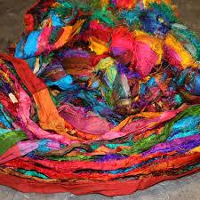 sari silk ribbon sari silk ribbon yarn multicolour 100g ybsd sribmix 100