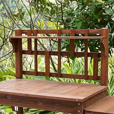 Wooden Potting Benches Garden Potting Bench With Storage Shelf Wood Outdoor Large Work Table