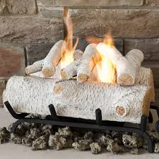 Convert Gas Fireplace To Wood by Birch Gas Log Set Logs Wood Logs Coal Oak Cone Fire Shapes