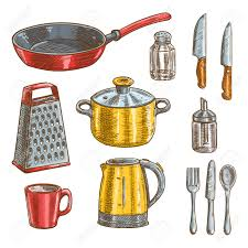 ustensiles de cuisine en r ustensile de cuisine en r diy heureux cuisine stickers