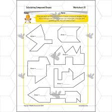 lesson 8 area of compound shapes worksheet with answers area of