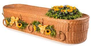 wicker casket coffin casket parkman funerals