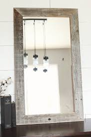 Framing A Bathroom Mirror by Best 25 Reclaimed Wood Mirror Ideas Only On Pinterest Pallet