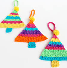 crochet christmas tree decorations my poppet makes