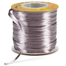 raffia ribbon grey pearl raffia ribbon the container store