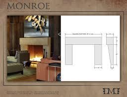 modern fireplace mantel new ideas modern fireplace mantels with monroe modern stone
