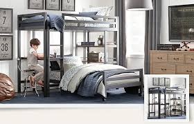 FascinatingBlackWhiteandBlueBoysRoomwithBunkBedand - Kids room with bunk bed