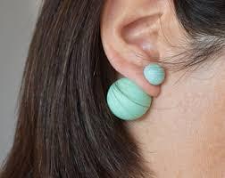 two sided earrings earrings etsy