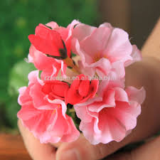 Home Decor For Cheap Wholesale by Wall Hanging Artificial Silk Geranium Flowers Factory Cheap