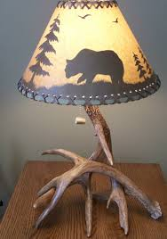 Antler Table L Two Whitetail Antler L For Cabin Lodge Or Rustic Decor