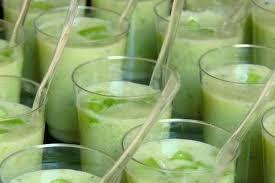 cuisiner concombre recette de verrines concombre lait de coco et coriandre la