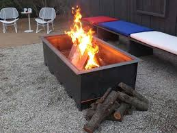 Wood Firepits Dazzling Design Ideas Rectangular Wood Burning Pit Luxury