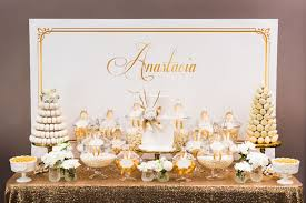 gold and white decorations karas ideas gold
