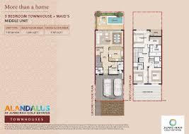 alandalus townhouses floor plans u2013 jumeirah golf estates property