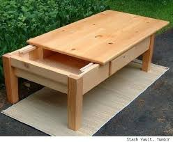 Secret Compartments In Wooden Japanese - coffee table with a sliding top to reveal the hidden compartment